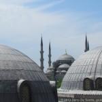 Vista della Moschea Blu da Santa Sofia
