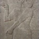 Bassorilievo assiro nel Museo dell'Antico Oriente