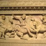 Dettaglio del sarcofago di Alessandro Magno